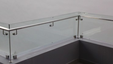 Rails with glass