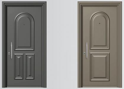 Πρεσσαριστές θωρακισμένες πόρτες αλουμινίου SA 5000