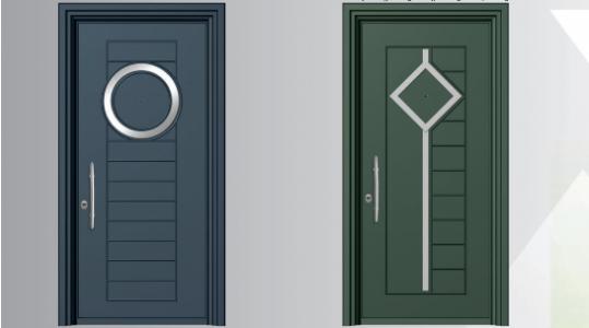 Θωρακισμένες πόρτες αλουμινίου Inox SA 6000