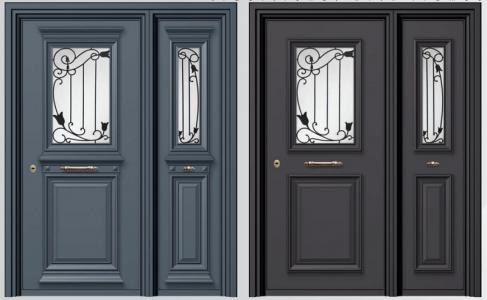 Παραδοσιακές θωρακισμένες πόρτες αλουμινίου SA 1000