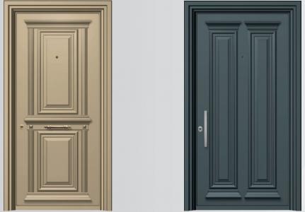 Παραδοσιακές θωρακισμένες πόρτες αλουμινίου SA 3000